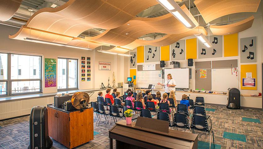 MacArthur school interior